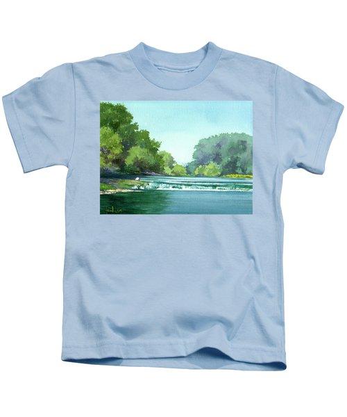 Falls At Estabrook Park Kids T-Shirt