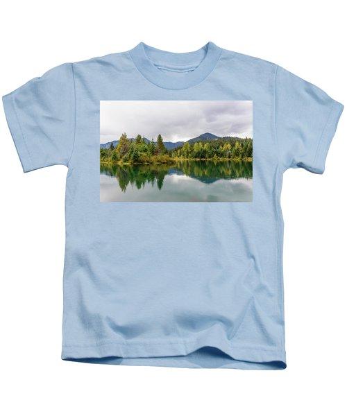 Falls Colors In Gold Creek Pond Kids T-Shirt