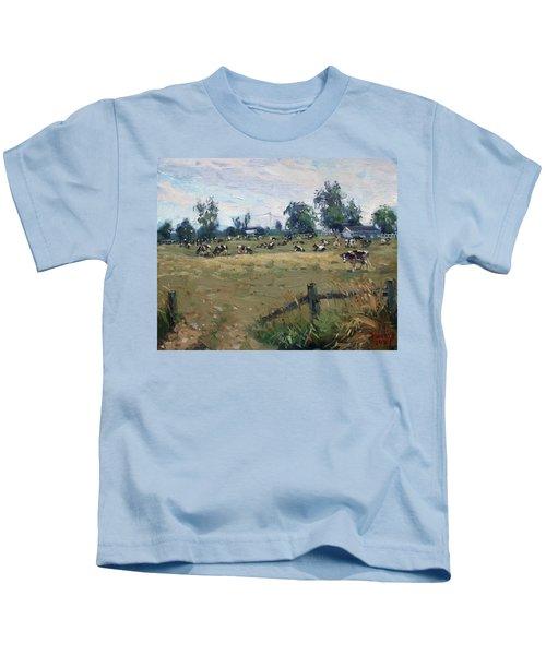 Farm In Terra Cotta On Kids T-Shirt