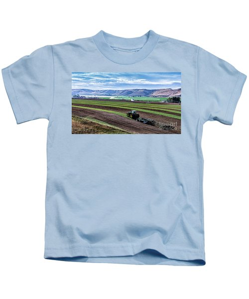 Farming In Pardise Agriculture Art By Kaylyn Franks Kids T-Shirt
