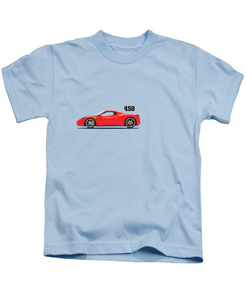Ferrari 458 Italia Kids T-Shirt by Mark Rogan