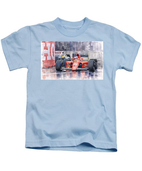 1991 Ferrari F1 Jean Alesi Phoenix Us Gp Arizona 1991 Kids T-Shirt