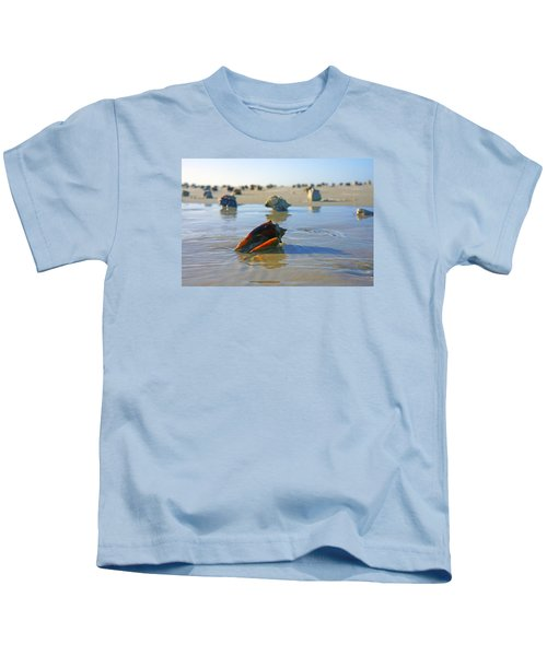 Fighting Conchs On The Sandbar Kids T-Shirt