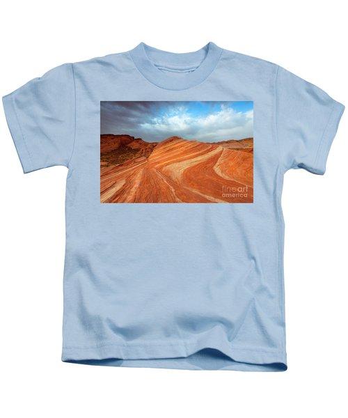 Fire Wave Storm Kids T-Shirt