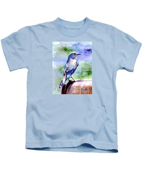 Firehole Bridge Bluebird - Female Kids T-Shirt