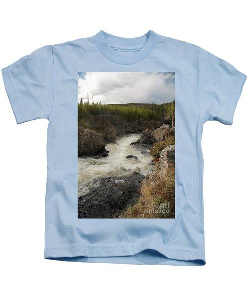 Firehole River Cascade Kids T-Shirt