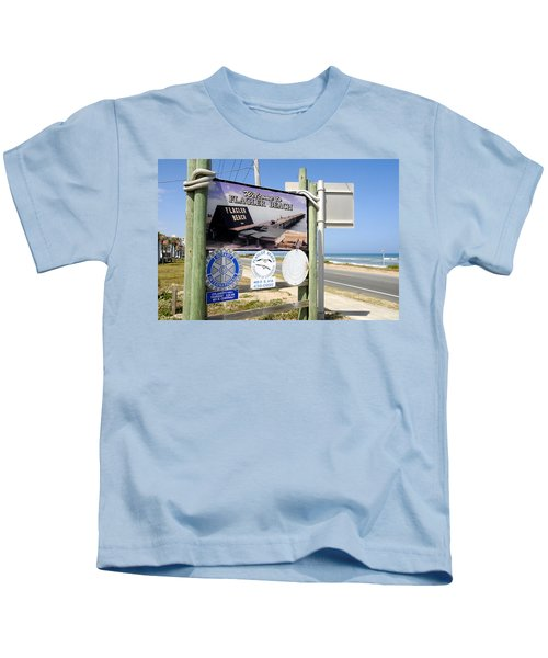 Flagler Beach Welcome Sign Kids T-Shirt