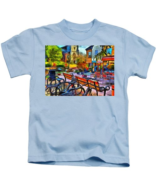 Floppy Bikes And Empty Benches Kids T-Shirt
