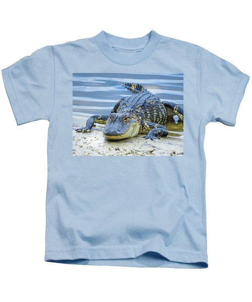 Florida Alligator Closeup Kids T-Shirt