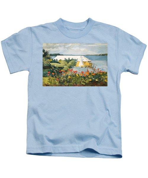 Flower Garden And Bungalow Kids T-Shirt