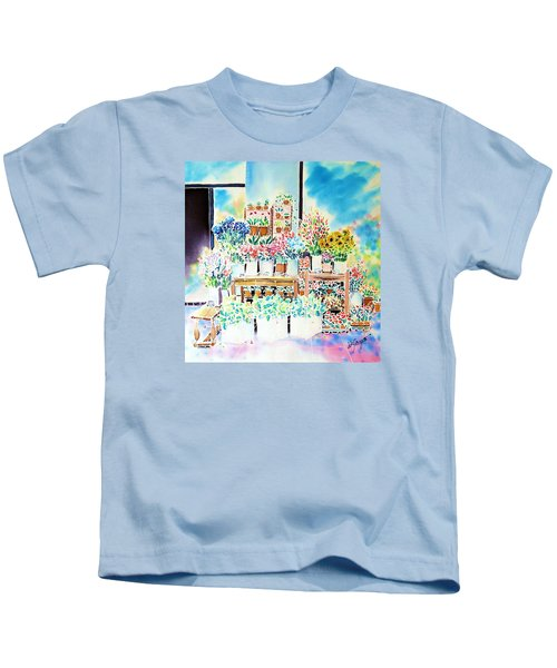 Flower Shop In Paris Kids T-Shirt