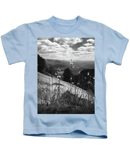 Flowers At The Top Of Table Rock Trail Kids T-Shirt