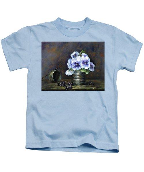 Flowers,pansies Still Life Kids T-Shirt