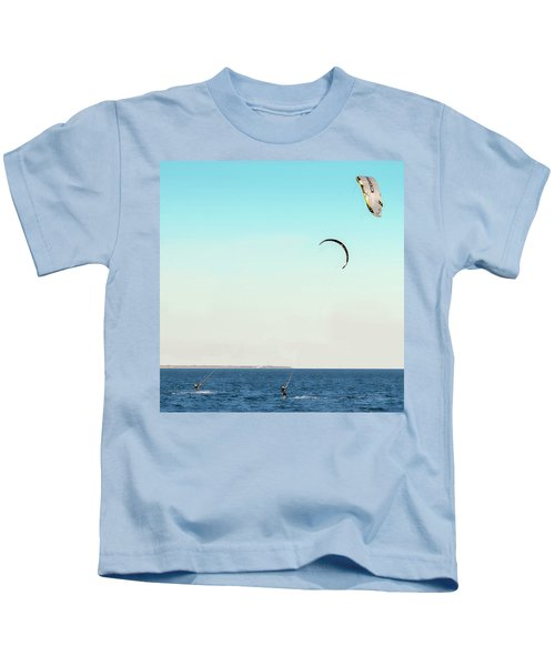 Flying On A Breeze Kids T-Shirt