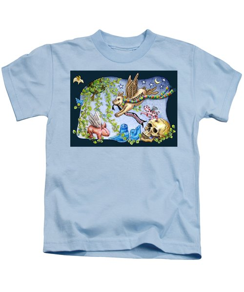Flying Pig Party 2 Kids T-Shirt