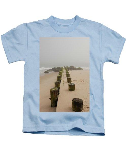 Fog Sits On Bay Head Beach - Jersey Shore Kids T-Shirt