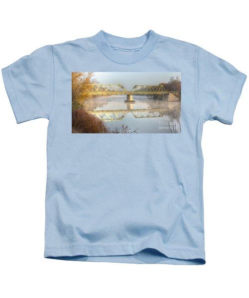 Foggy Mornin' Bridge Kids T-Shirt