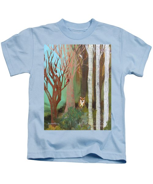 Fox In The Forest  Kids T-Shirt