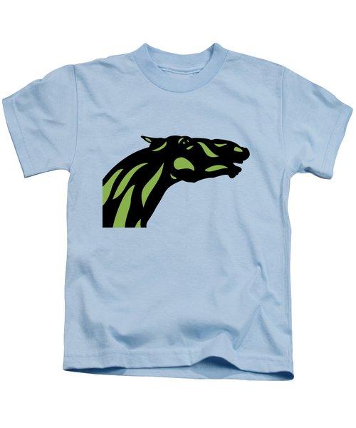 Fred - Pop Art Horse - Black, Greenery, Island Paradise Blue Kids T-Shirt