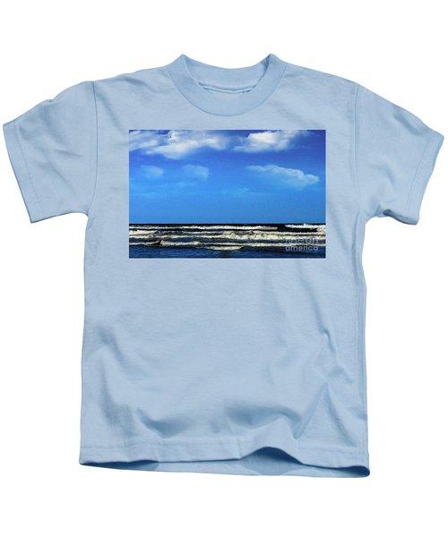 Freeport Texas Seascape Digital Painting A51517 Kids T-Shirt