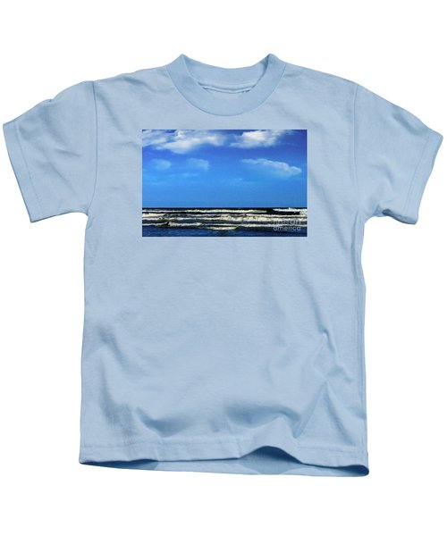 Freeport Texas Seascape Digital Painting A51517 Kids T-Shirt