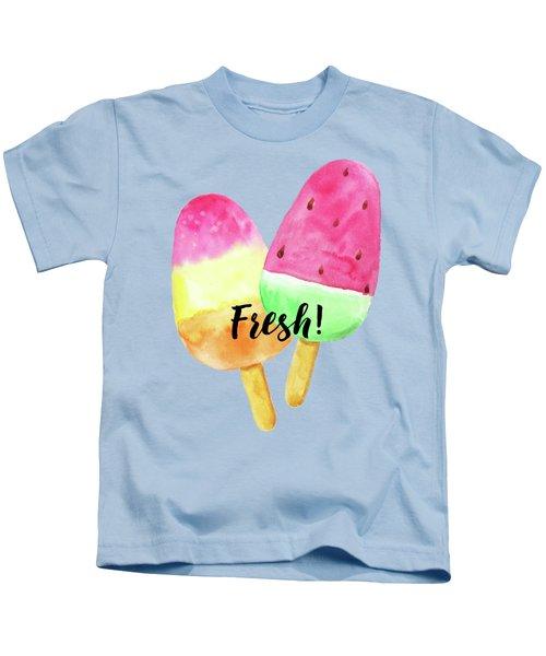 Fresh Summer Refreshing Fruit Popsicles Kids T-Shirt