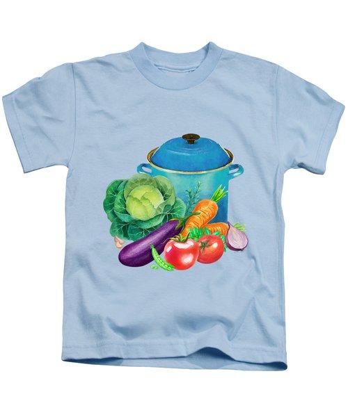 Fresh Vegetable Bounty Kids T-Shirt by Little Bunny Sunshine