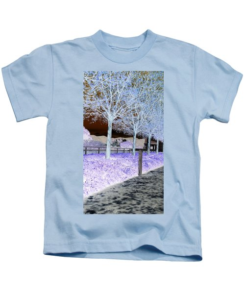 Frosty Trees At The Getty Kids T-Shirt