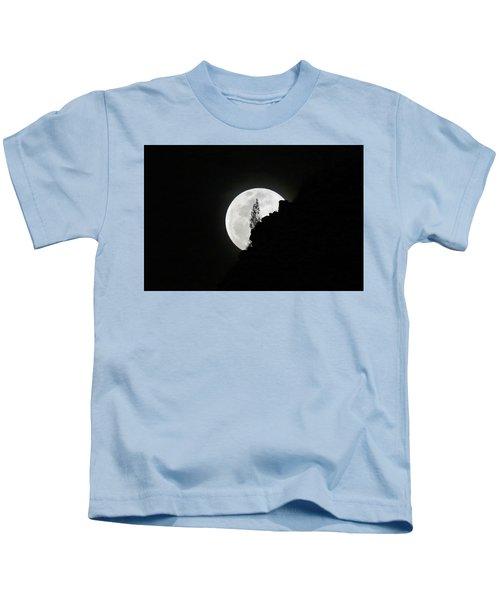 Full Moon Rising Over Makapu'u Kids T-Shirt