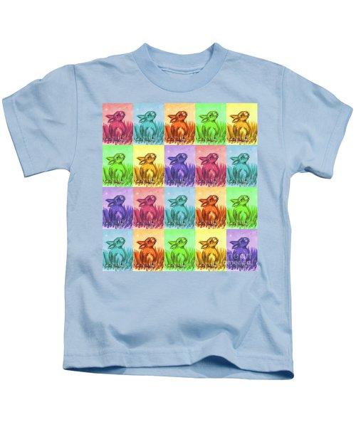 Fun Spring Bunnies Kids T-Shirt