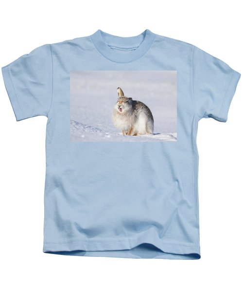 Funny Face - Mountain Hare - Scottish Highlands  #13 Kids T-Shirt