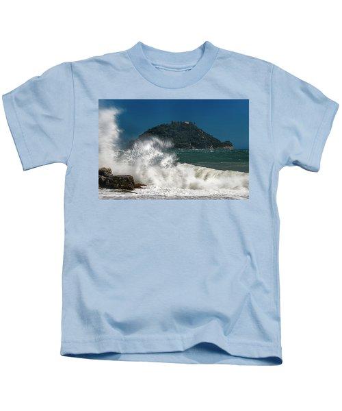 Gallinara Island Seastorm - Mareggiata All'isola Gallinara Kids T-Shirt