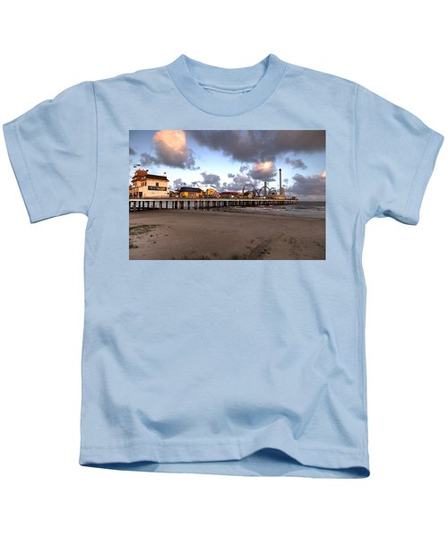 Galveston Island Historic Pleasure Pier Kids T-Shirt
