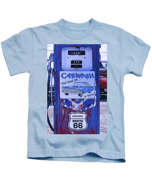 Gas Pump Route 66 Kids T-Shirt