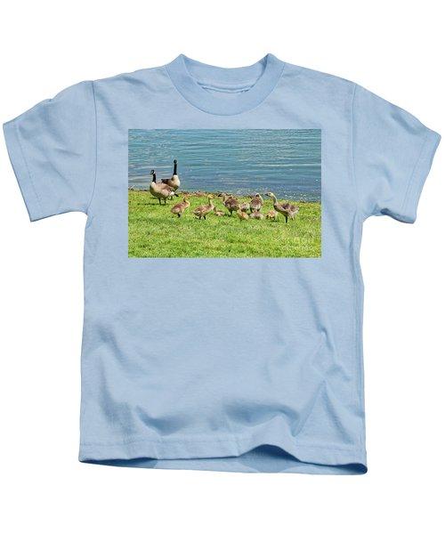 Geese Gathering Kids T-Shirt
