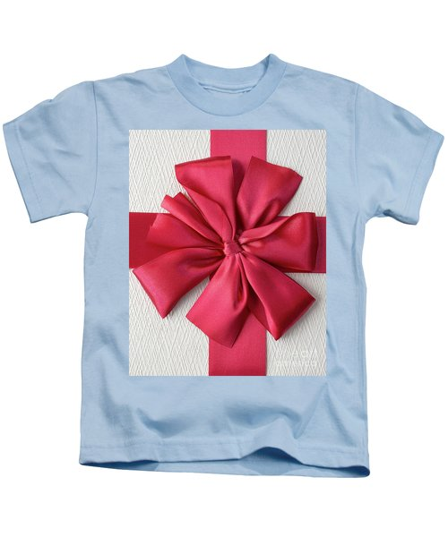 Gift Box With Red Bow Kids T-Shirt
