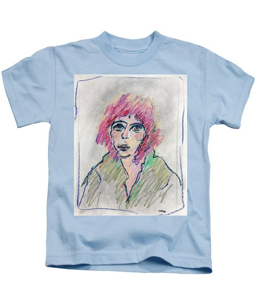 Girl With Pink Hair  Kids T-Shirt