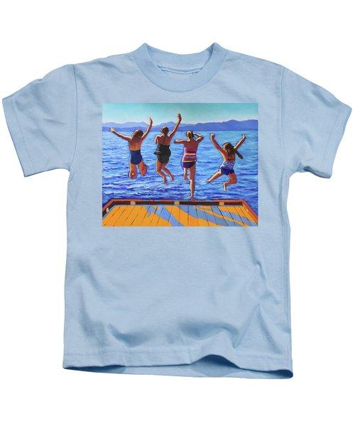Girls Jumping Kids T-Shirt