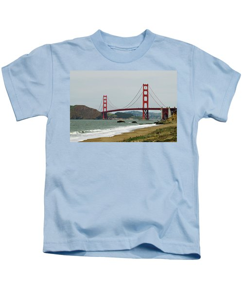 Golden Gate Bridge From Baker Beach Kids T-Shirt
