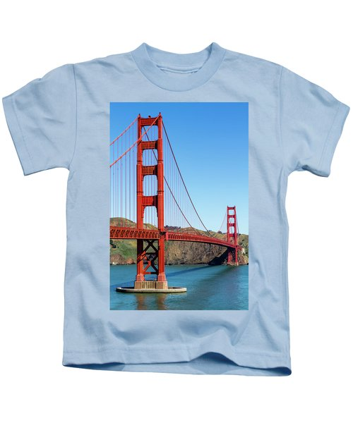 Golden Gate Bridge On Sunny Morning Kids T-Shirt