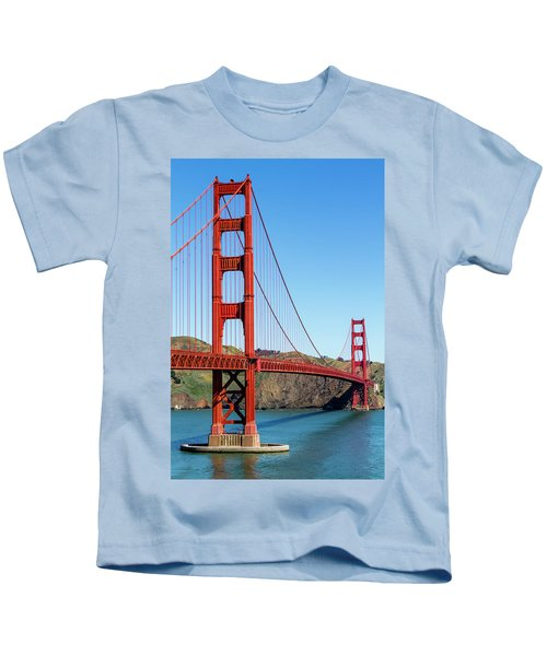 Golden Gate Bridge On Sunny Morning Kids T-Shirt