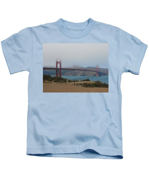 Golden Gate In The Clouds Kids T-Shirt