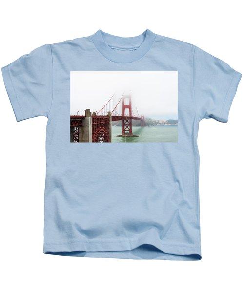 Golden Gate In The Fog Kids T-Shirt