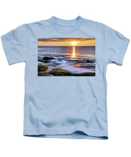 Golden Light Sunset, Rockport  Ma. Kids T-Shirt