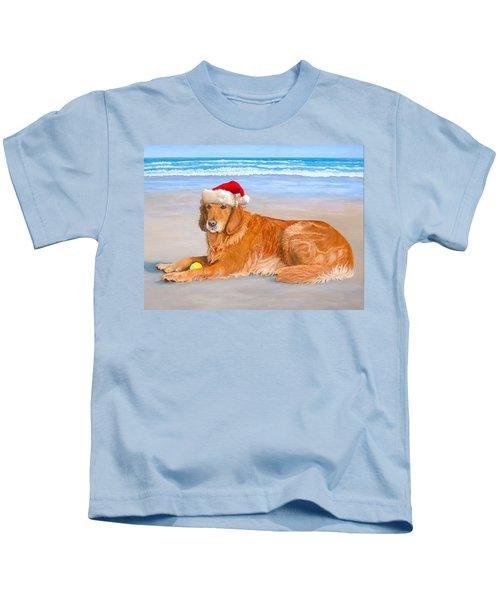Golden Retreiver Holiday Card Kids T-Shirt