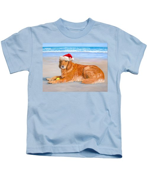 Golden Retreiver Holiday Card Kids T-Shirt