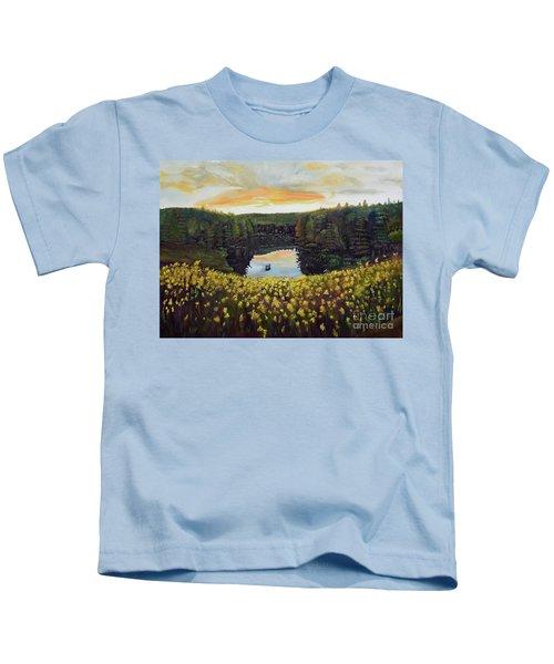 Goldenrods On Davenport Lake-ellijay, Ga  Kids T-Shirt