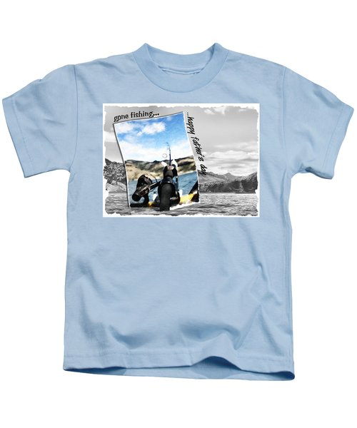 Gone Fishing Father's Day Card Kids T-Shirt