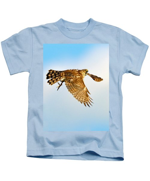 Kids T-Shirt featuring the photograph Good Hawk Hunting by William Jobes