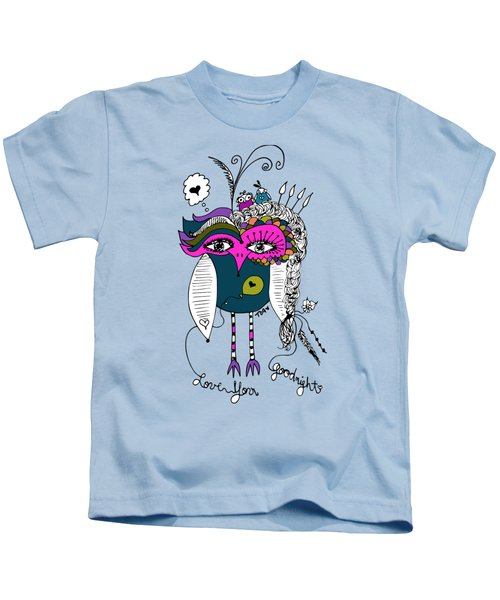 Goodnight Owl Kids T-Shirt by Tara Griffin